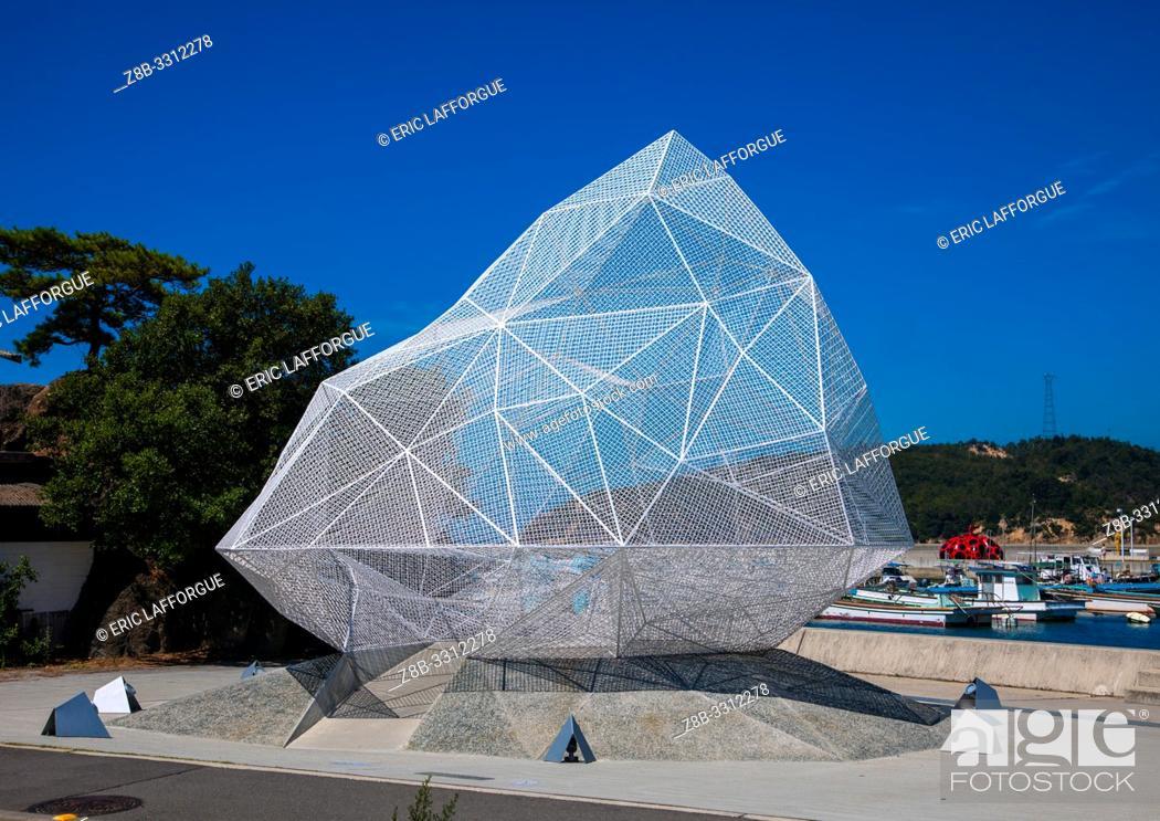 Stock Photo: Naoshima pavilion by Sou Fujimoto, Seto Inland Sea, Naoshima, Japan.