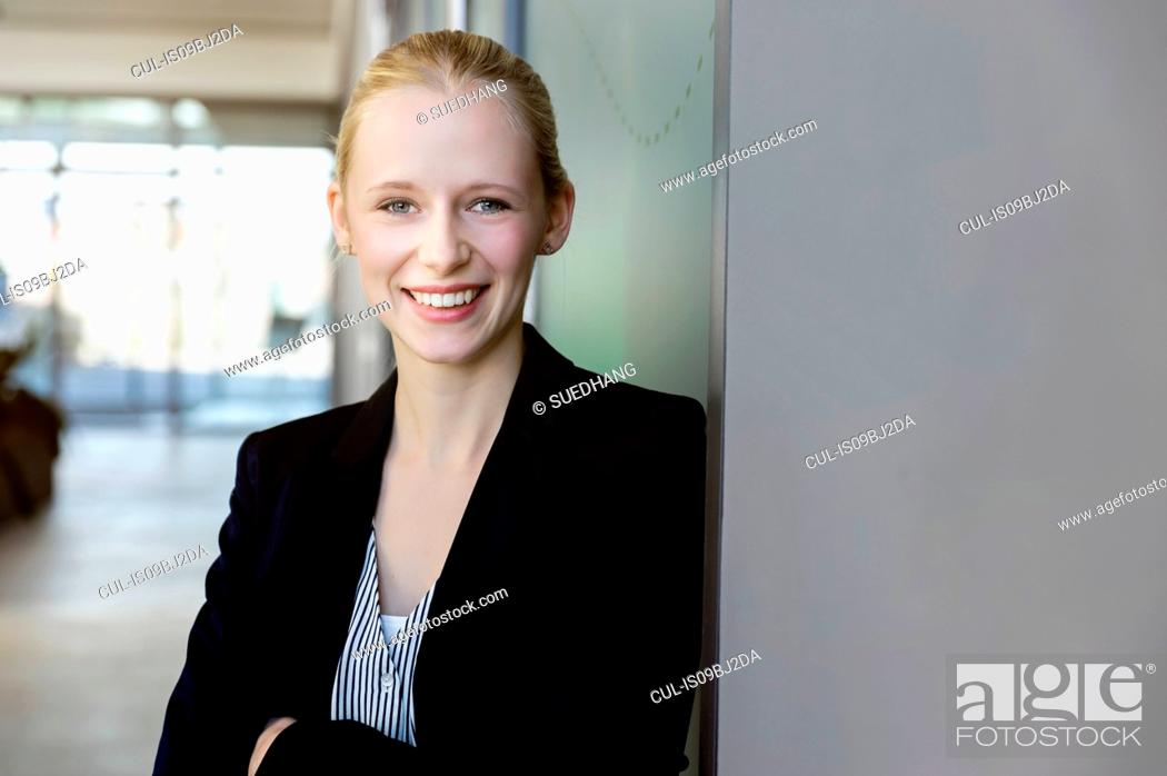 Stock Photo: Businesswoman in office.