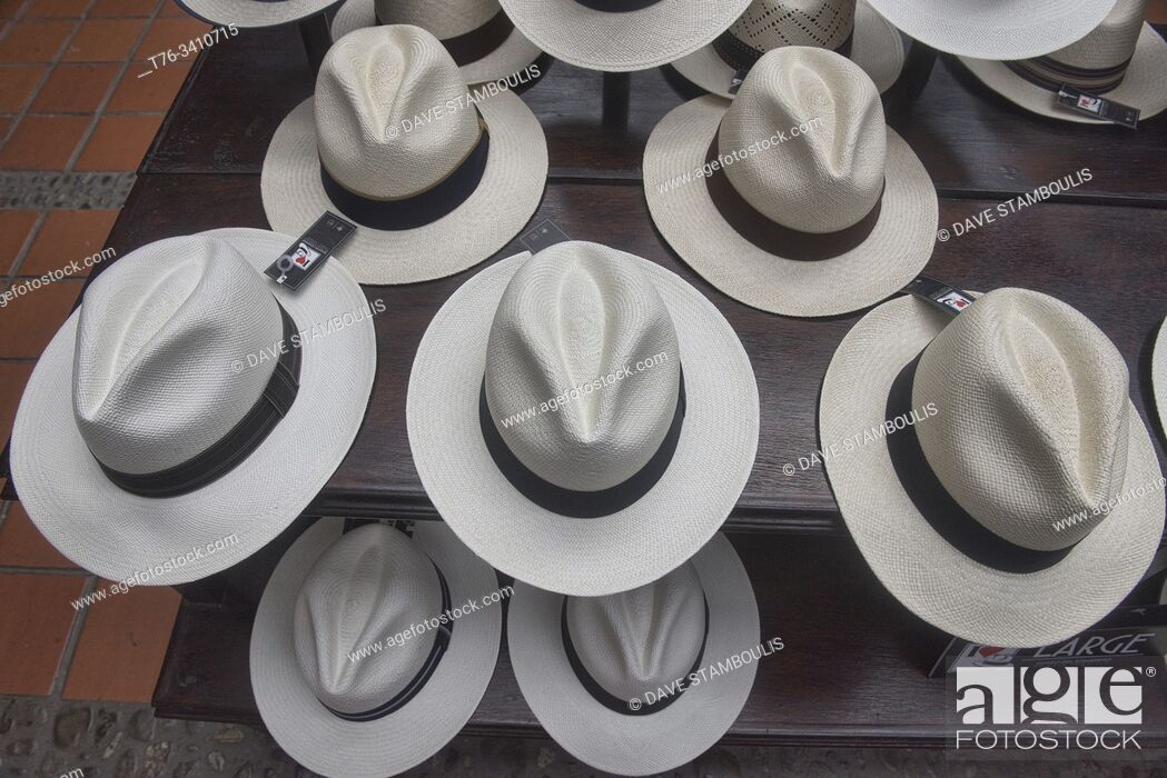 Imagen: Traditional Panama hats (paja toquilla), which actually come from Ecuador.
