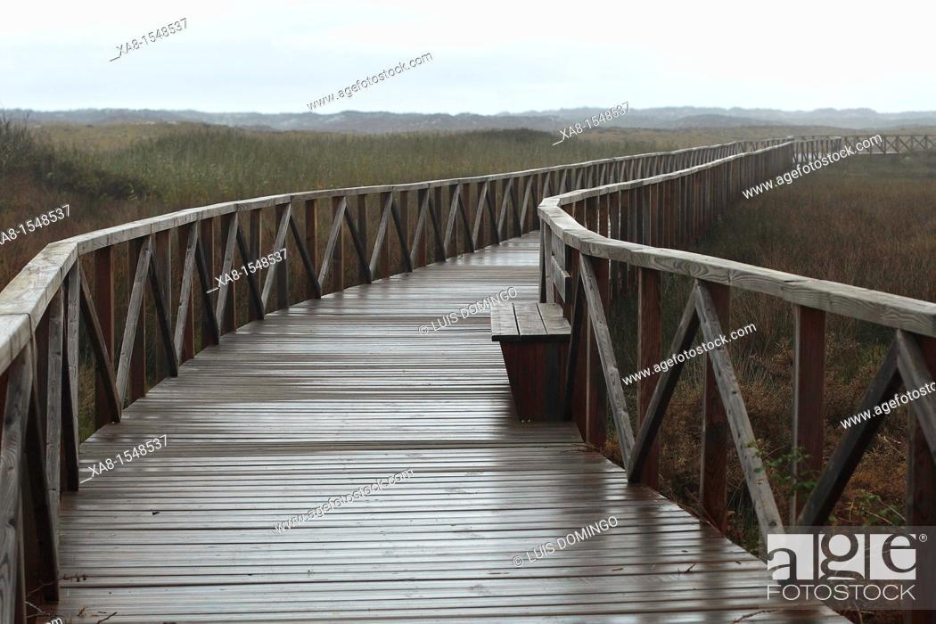 Stock Photo: laxe promenade, galicia.