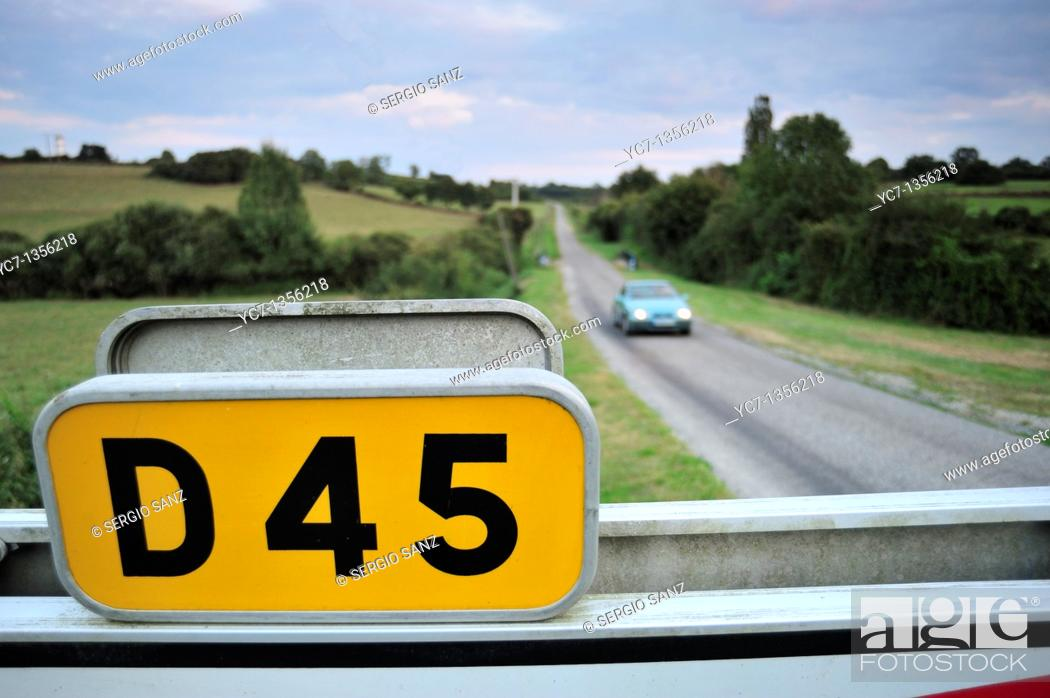 Stock Photo: D45 road, france.