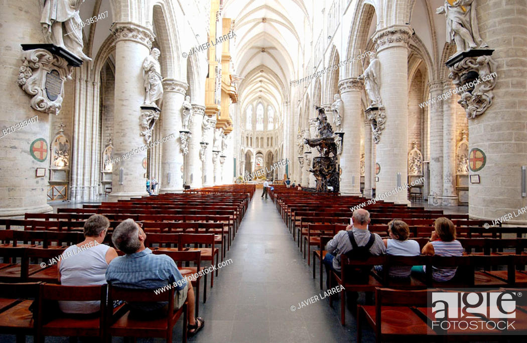 Photo de stock: St. Michael's cathedral (aka St. Gudule's). Brussels. Belgium.