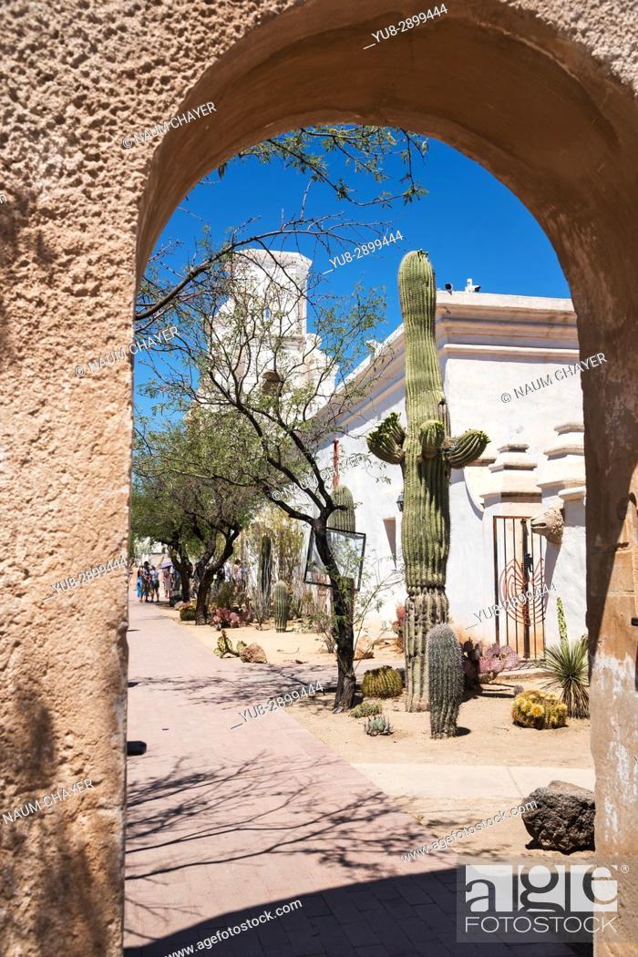 Stock Photo: San Xavier Mission, Tucson , Arizona, USA.