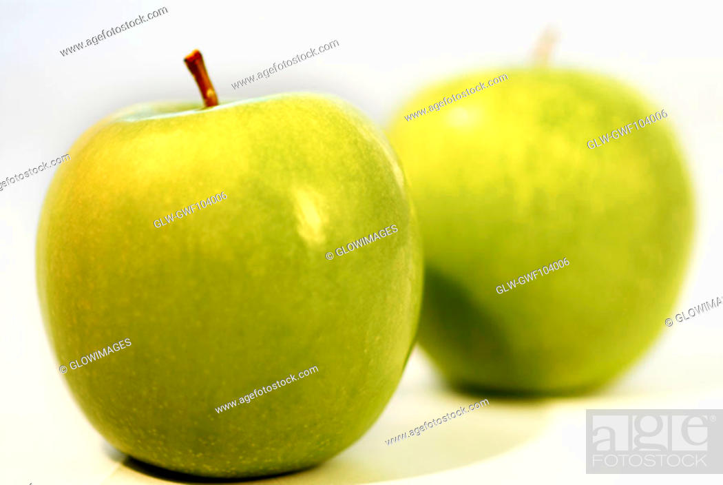 Stock Photo: Close-up of green apples.