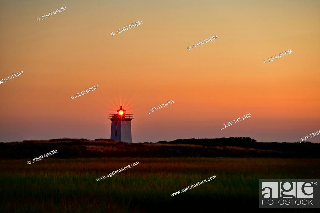 Stock Photo: Long Point Lighthouse, Provincetown, Cape Cod, MA, Massachusetts, USA.