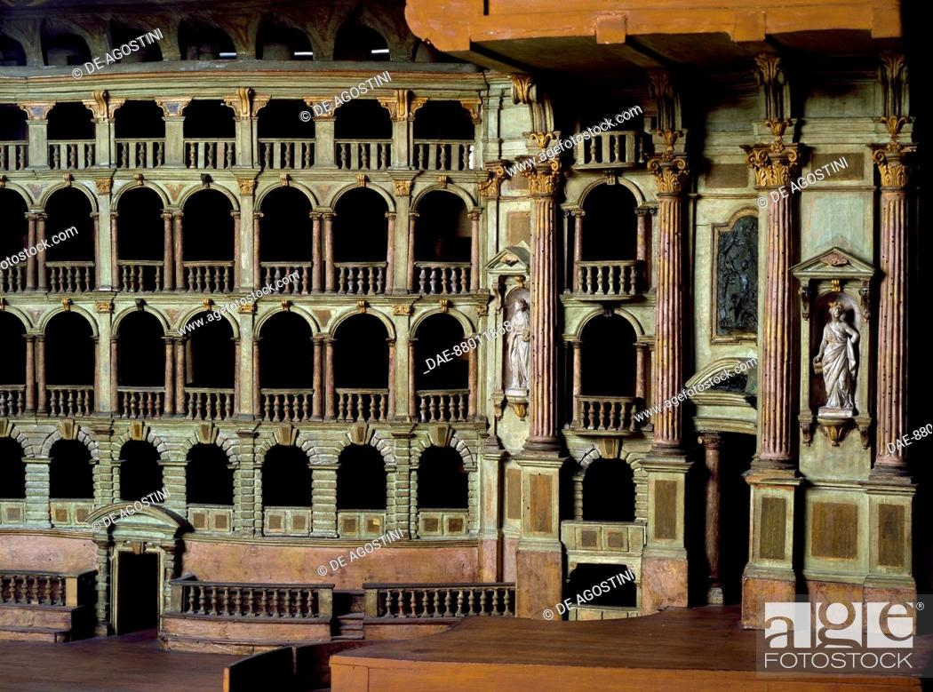 Stock photo wooden model of the municipal theatre of bologna designed by antonio galli da bibiena 1697 1774 italy 18th century