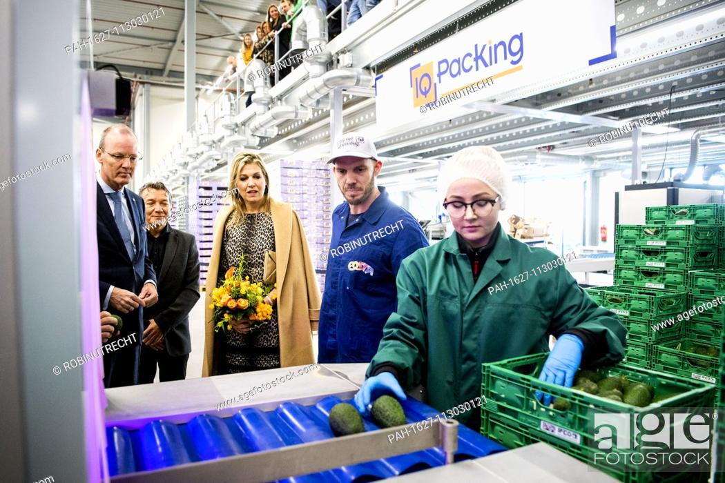 Queen Maxima of The Netherlands visits biologic vegetable and fruit