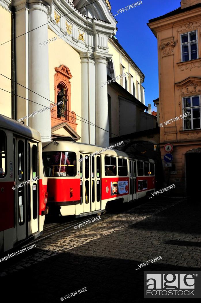 Stock Photo: Tram Prague.