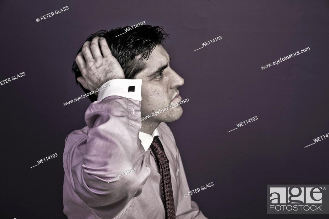 Stock Photo: Man wearing a tie.