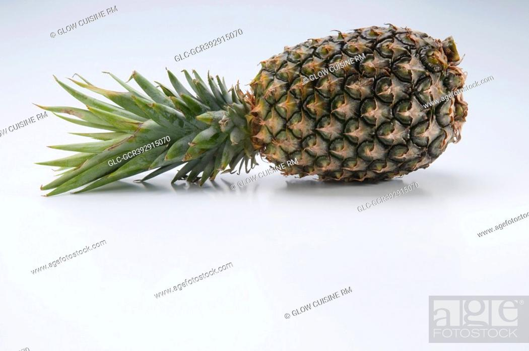 Stock Photo: Close-up of a pineapple.