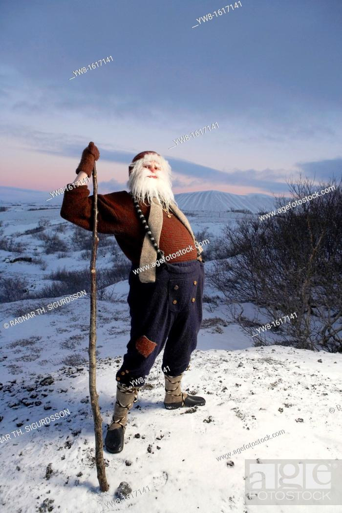 Stock Photo: Icelandic Yule Lad aka Santa Claus, Iceland  The Yule Lads or Yulemen are from Icelandic Folklore who in modern times have become the Icelands version of Santa.