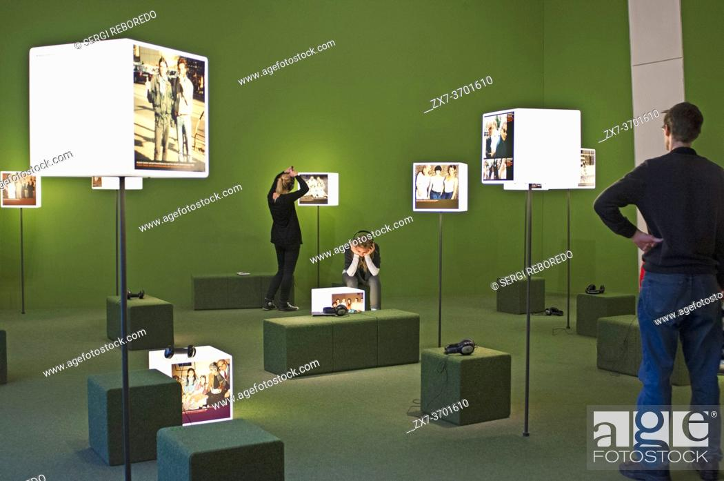 Stock Photo: Exhibit inside the Jewish museum Judisches Museum in Lindenstrasse street Berlin Germany. The Jewish Museum Berlin (Jüdisches Museum Berlin) is one of the.