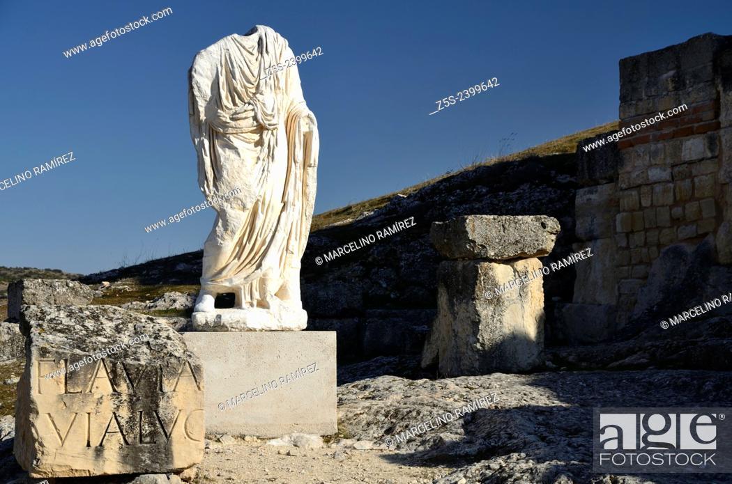 Stock Photo: Roman ruins of Segobriga, Saelices, Cuenca, Spain.