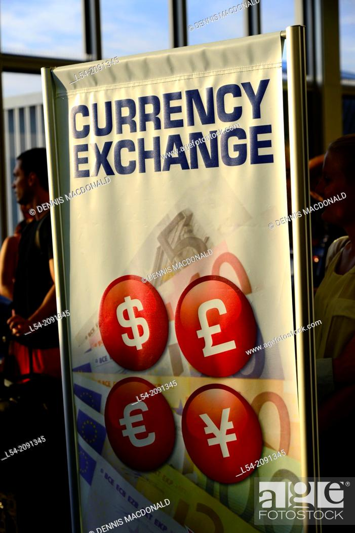 Foreign Currency exchange at airport for travelers