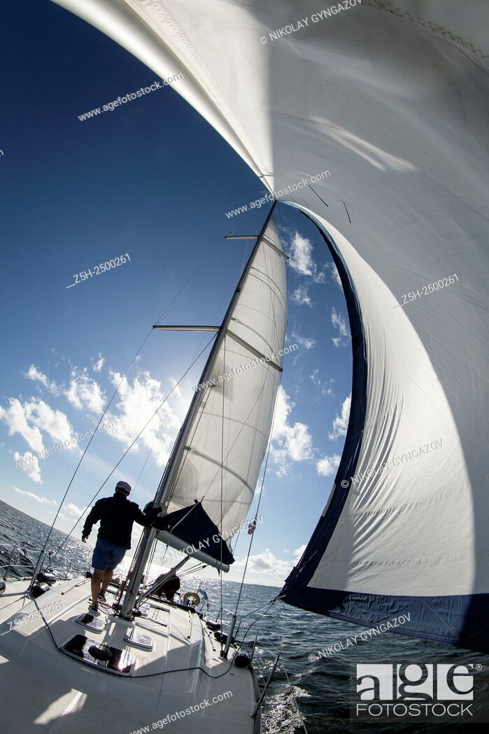 Stock Photo: Finland. Aland Islands. Baltic Sea. Cruise on a yacht.