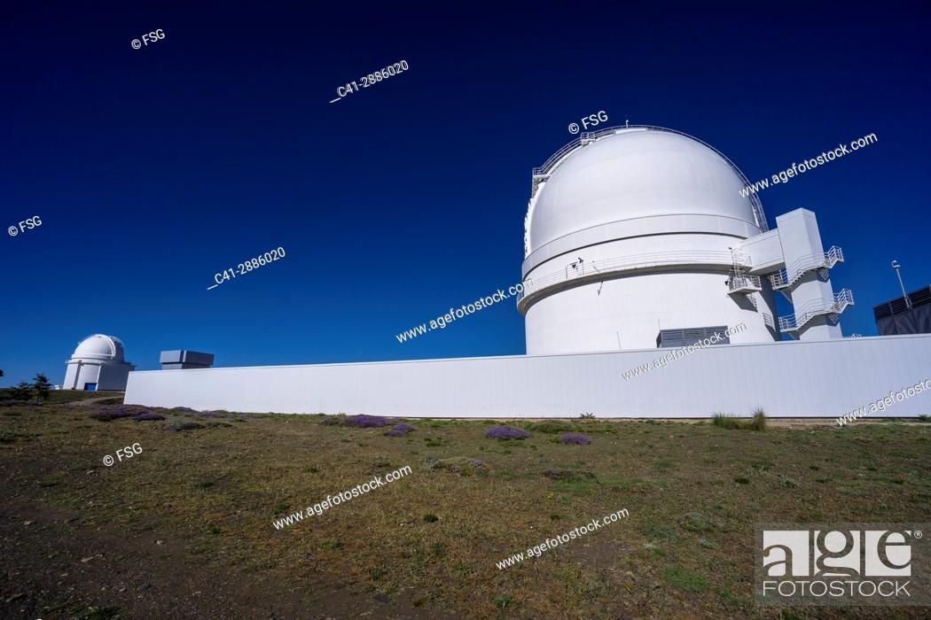Stock Photo: Calar Alto Astronomical observatory. Bacares. Sierra de los Filabres. Almería, Spain.