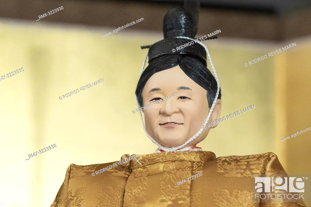 A Japanese 'hina' doll modeled after Crown Prince Naruhito