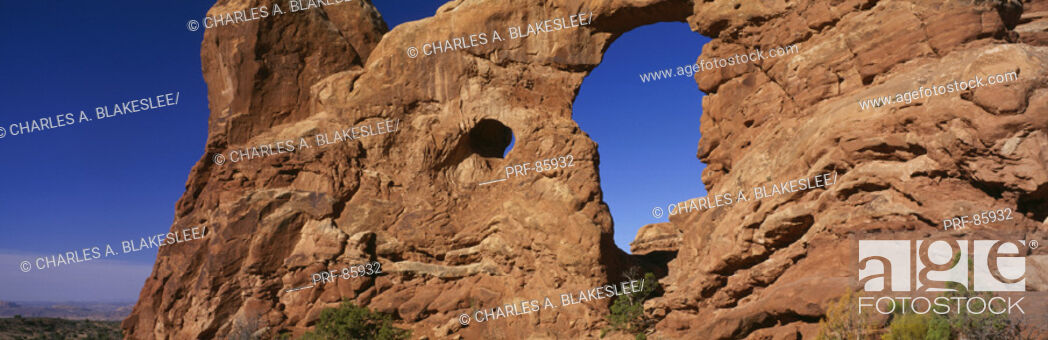 Stock Photo: Turret Arch Arches National Park UT.