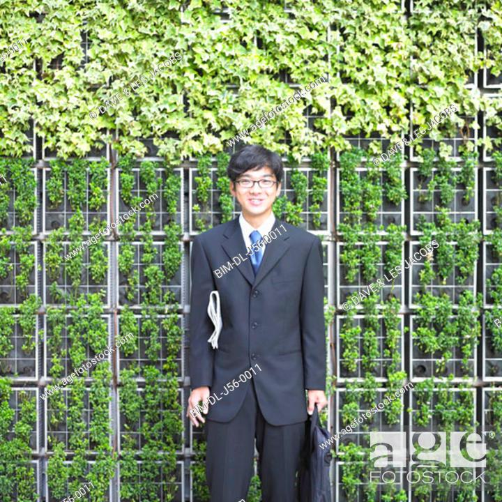 Stock Photo: Businessman smiling.