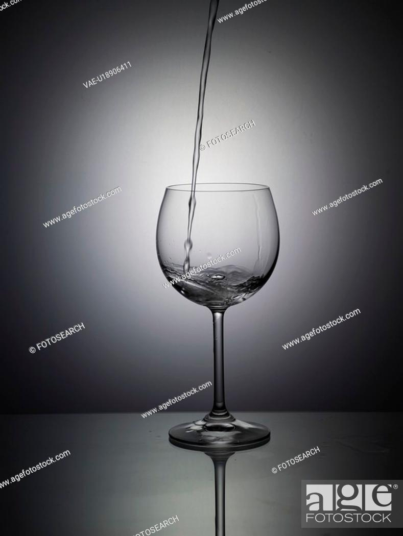 Stock Photo: wine glass, house item, light, water, glass.