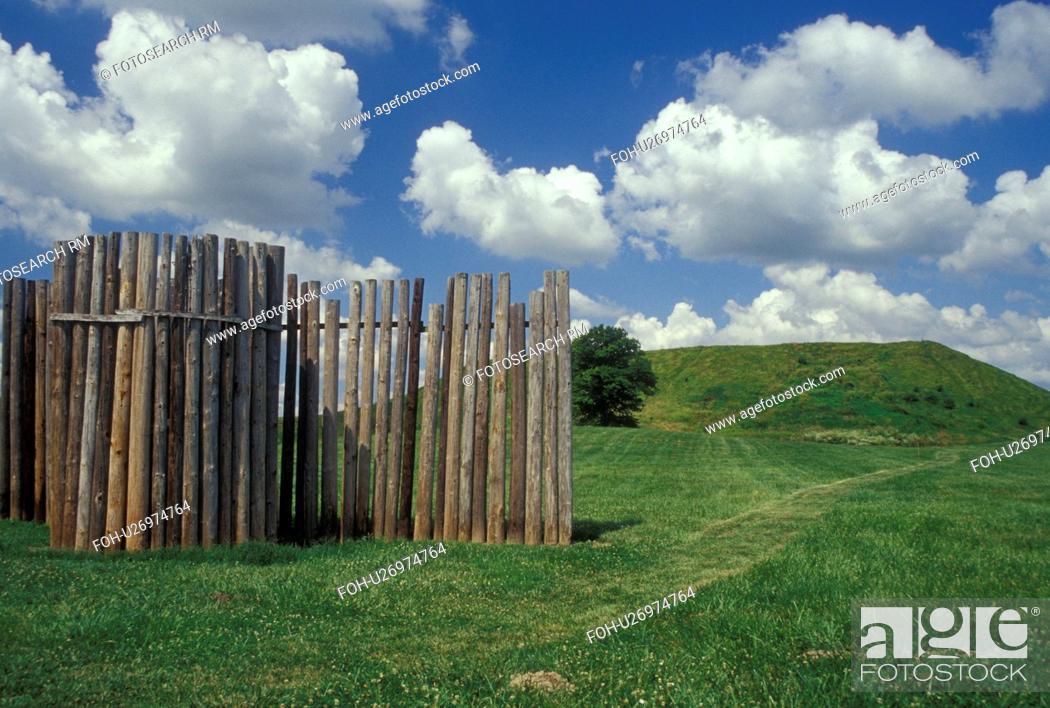 IL, Illinois, Collinsville, Cahokia Mounds State Historic