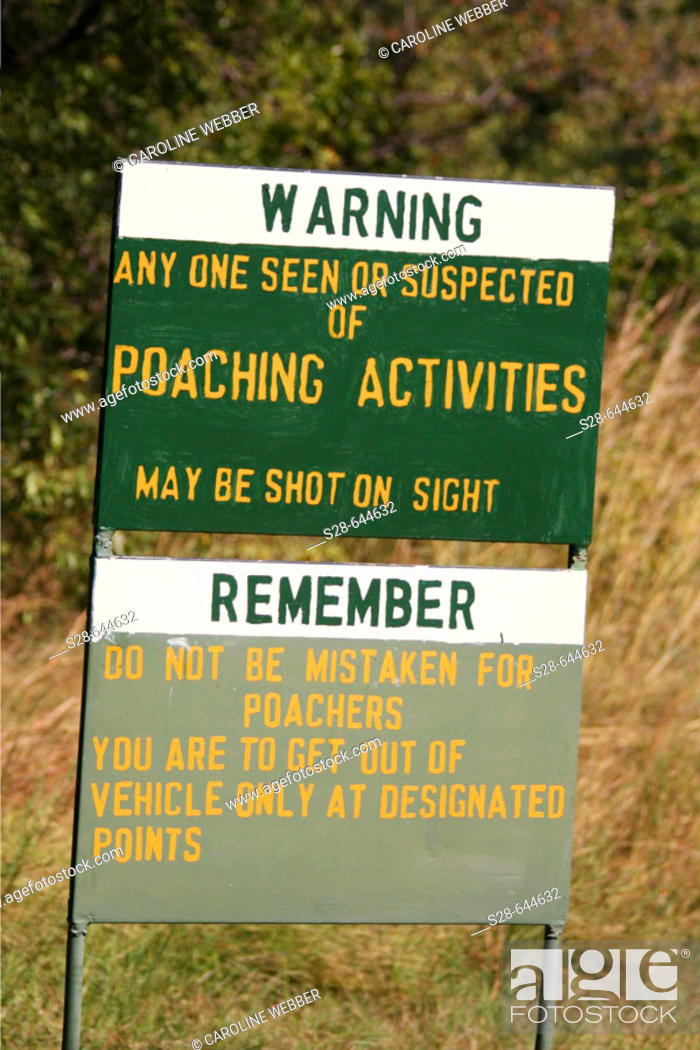 Stock Photo: Poaching Warning in Zimbabwe.