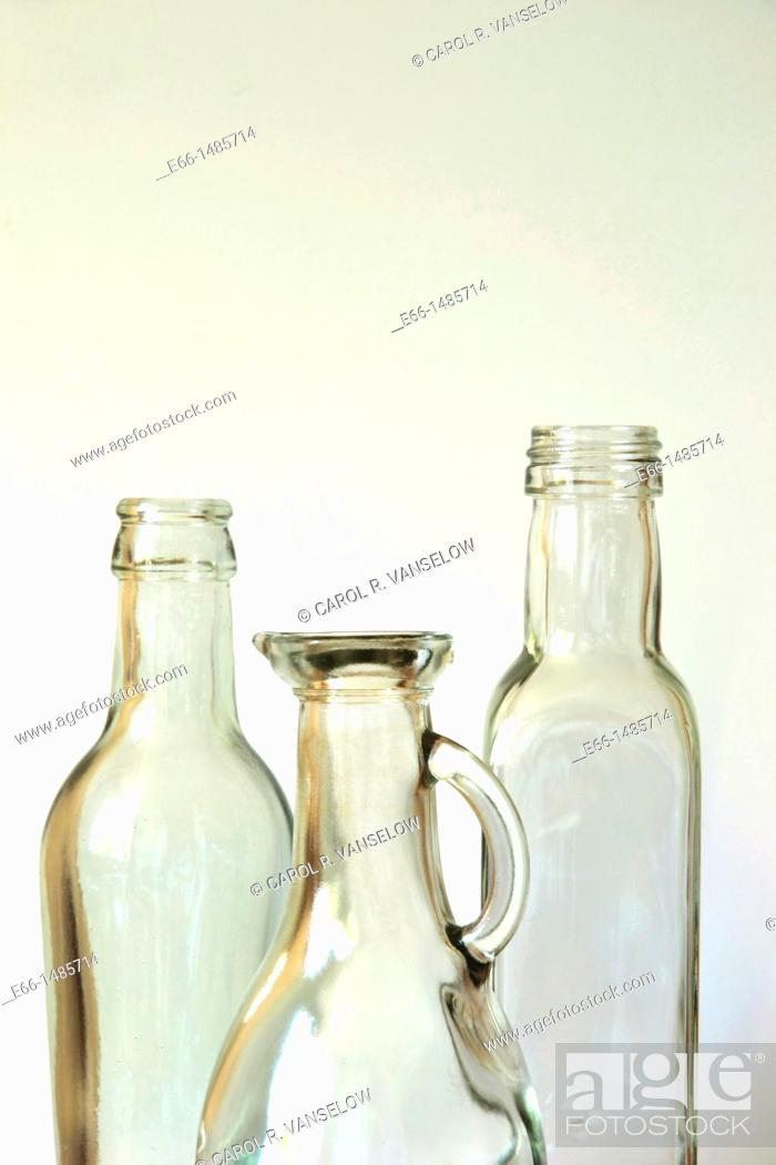 Stock Photo: Still life with bottles.