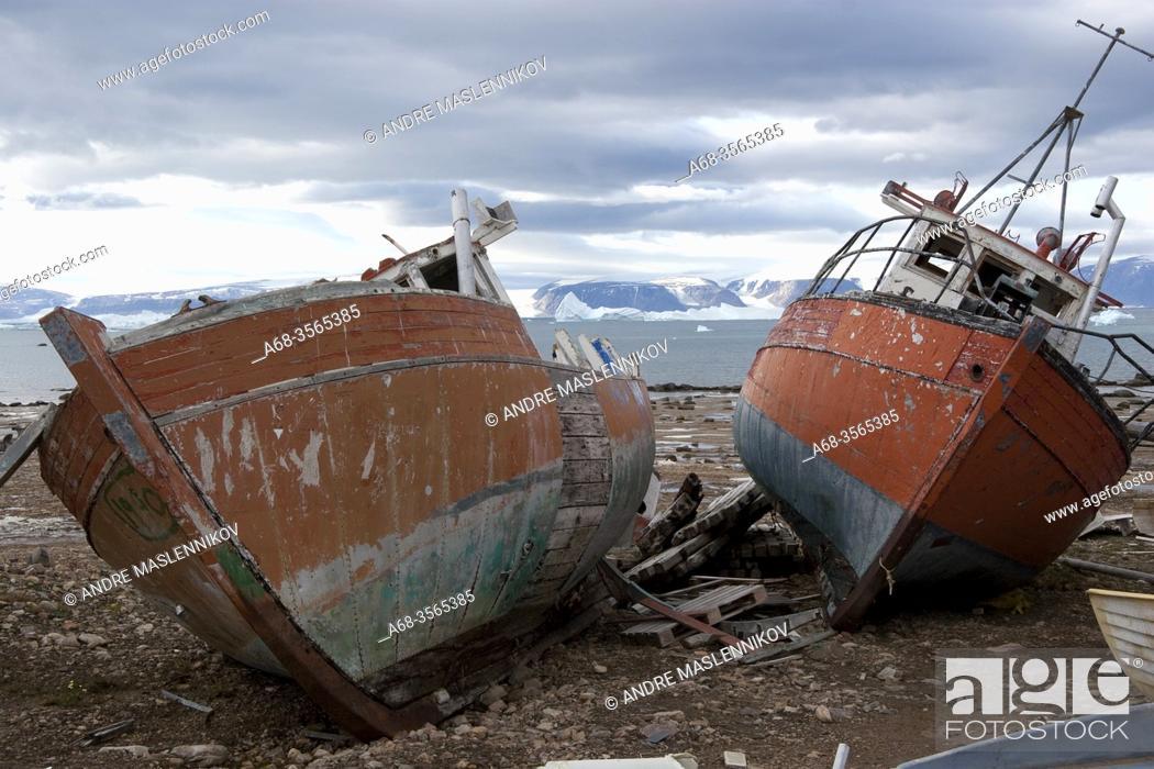 Stock Photo: Wreck. Greenland. Photo: André Maslennikov.