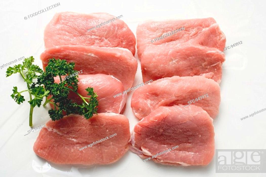 Stock Photo: Veal loin steaks.