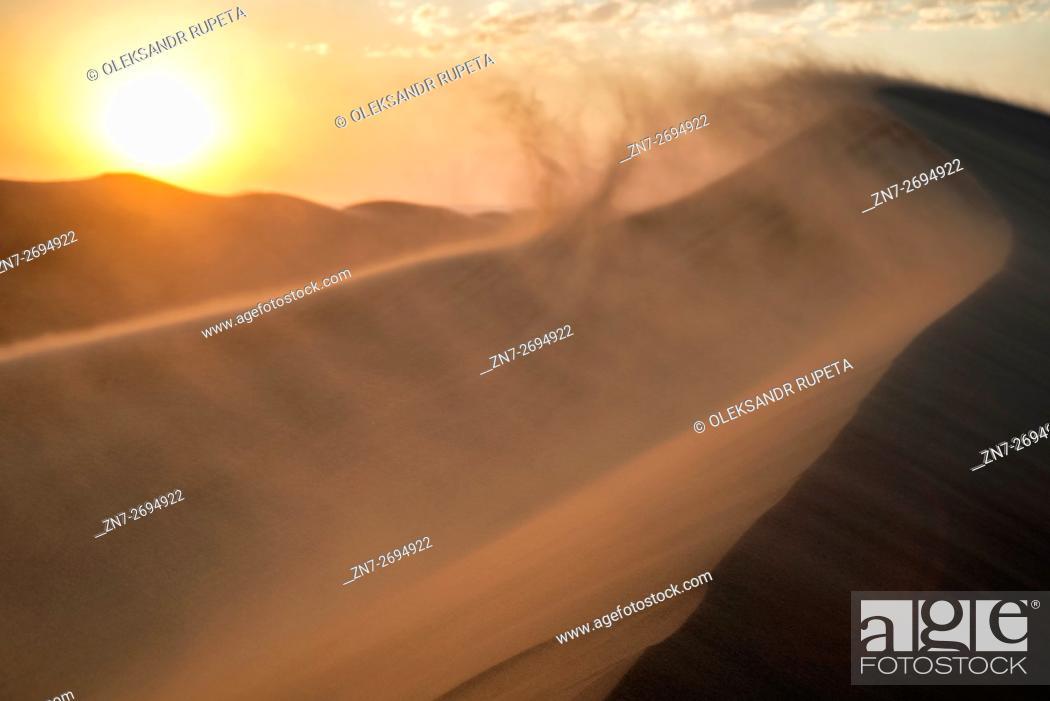 Stock Photo: Top of the Dune 7 near Walvis Bay, Namibia.