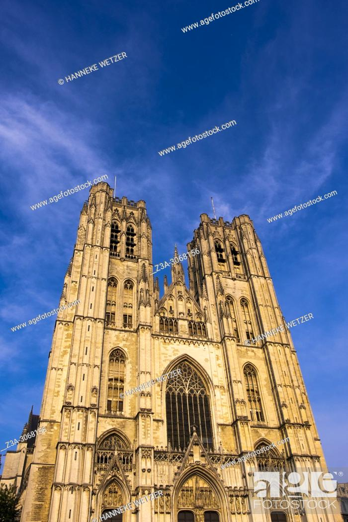 Photo de stock: The Cathedral of St. Michael and St. Gudula, Brussels, Belgium, Europe.
