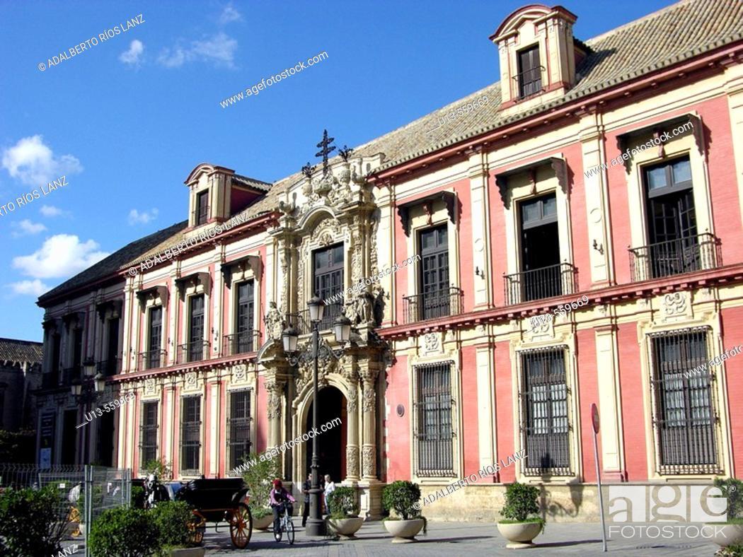 Stock Photo: 'Palacio Arzobispal' in 'Plaza del Triunfo'. Seville. Andalusia. Spain.