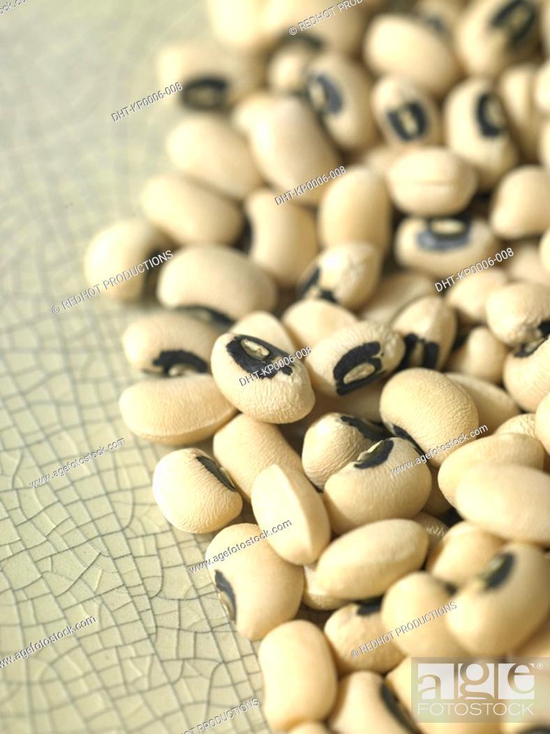 Stock Photo: Food - Black-eye Beans.