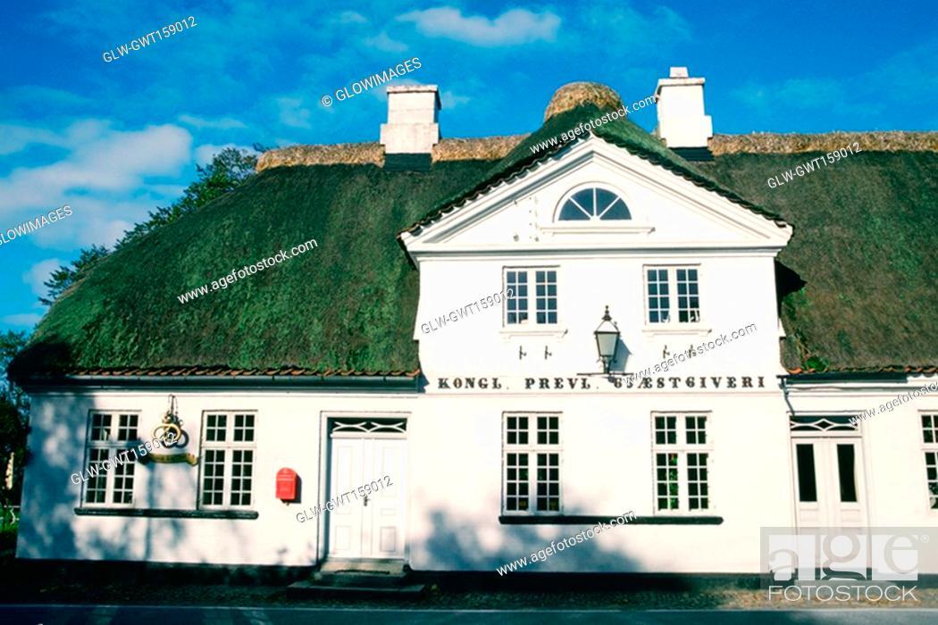 Stock Photo: Facade of a hotel, Falsled Kro, Funen County, Denmark.