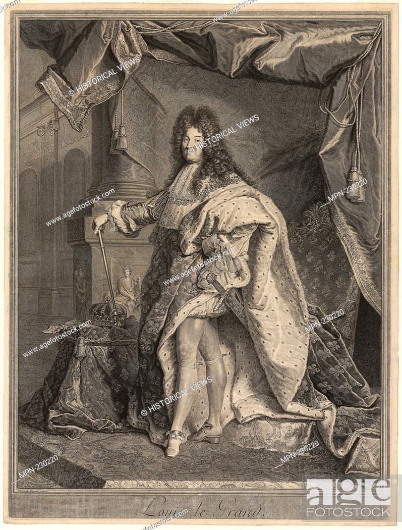 b868256f2c0 Stock Photo - Portrait of Louis XIV - 1712 - Pierre Drevet (French