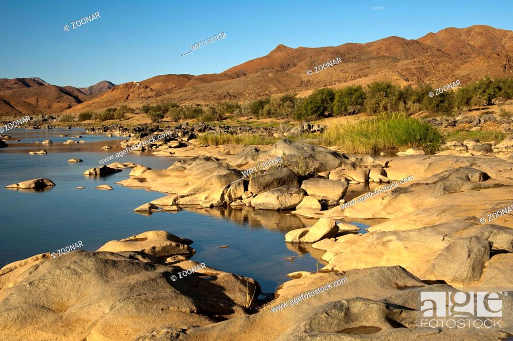 Stock Photo: At the Orange River, Richtersveld, South Africa.