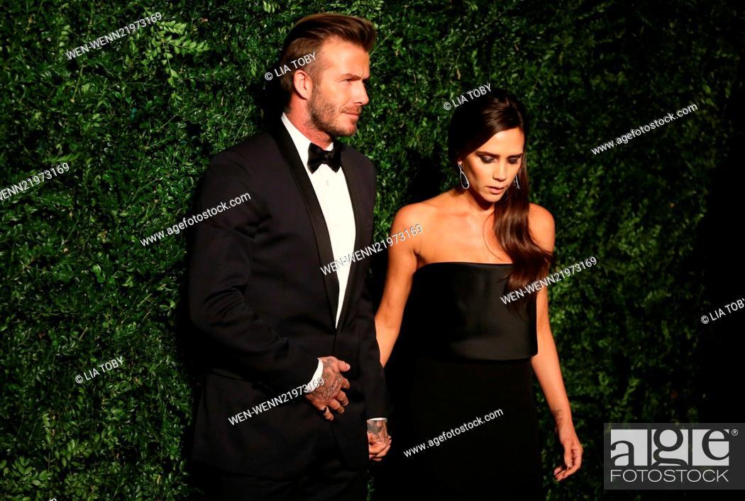 Imagen: 60th London Evening Standard Theatre Awards 2014 held at the London Palladium Featuring: David Beckham, Victoria Beckham Where: London.