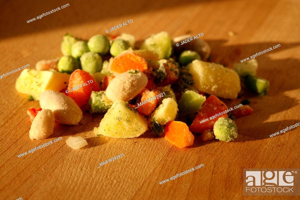 Stock Photo: vegetable frozeen soup.