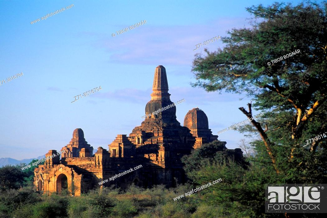 Stock Photo: Myanmar Burma Bagan Pahtothamya Temple.