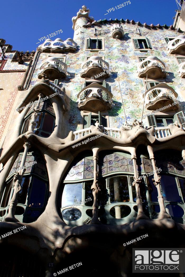Stock Photo: Casa Batllo Barcelona.