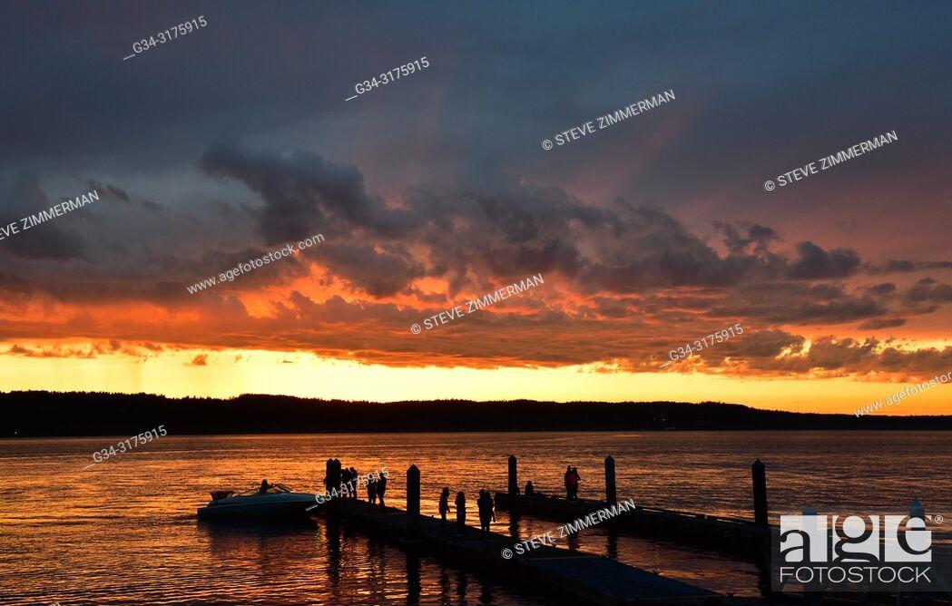 Stock Photo: Soothing Fire. Mukilteo, Washington, USA.