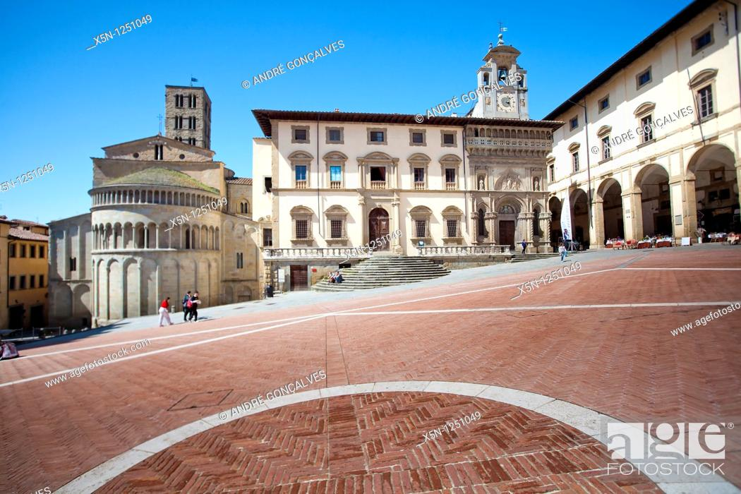 Stock Photo: Main Square, Arezzo, Italy.