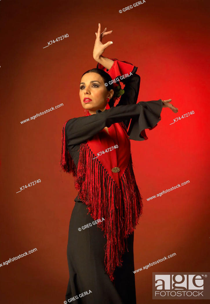 Stock Photo: Female Flamenco Dancer.