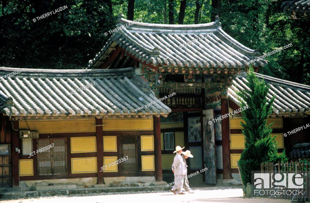 Stock Photo: South Korea, Nae Won Sa temple.