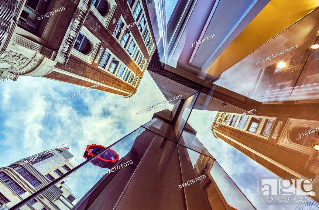 Imagen: Architecture low angle view. Madrid. Spain.