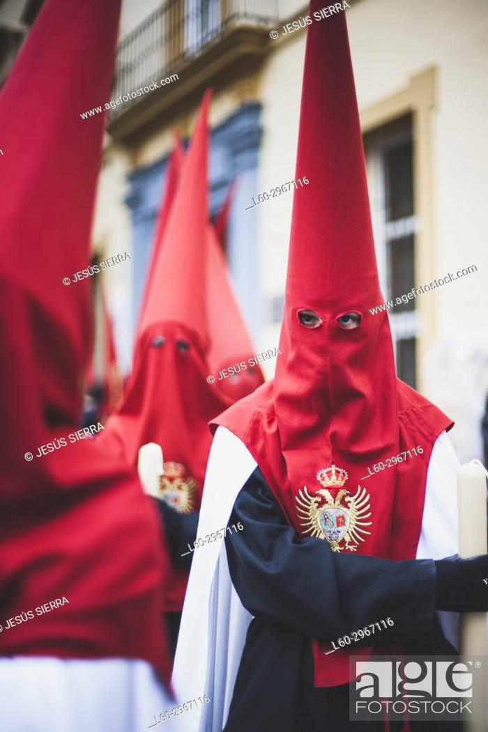 Stock Photo: Holy Week procession in Cadiz in Spain's Andalucia.