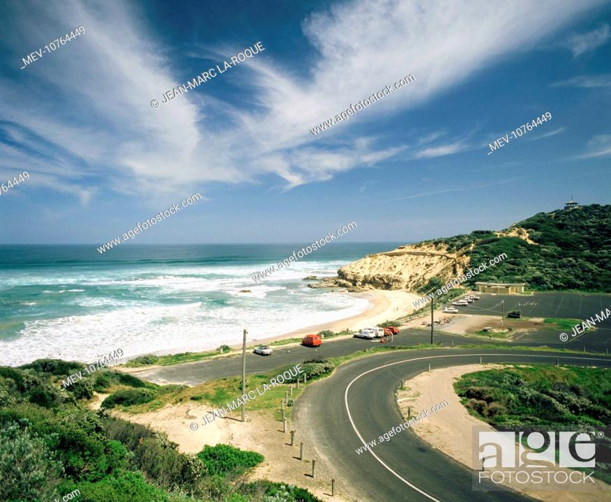 Stock Photo: Sorrento back beach amphitheatre.