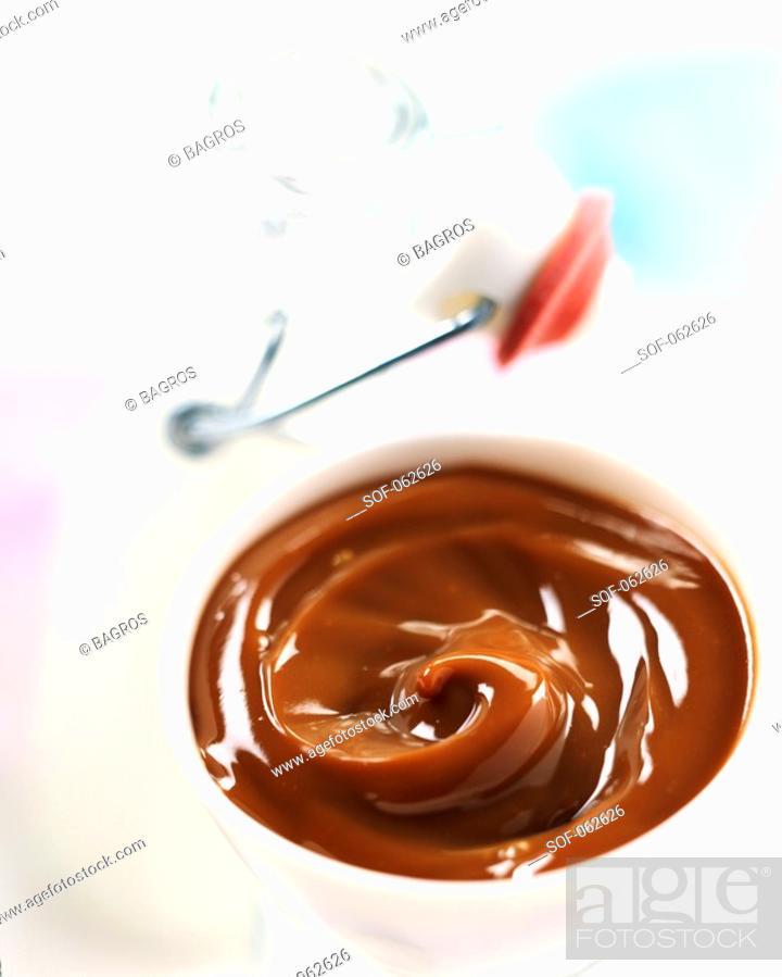 Stock Photo: chocolate milk jam.