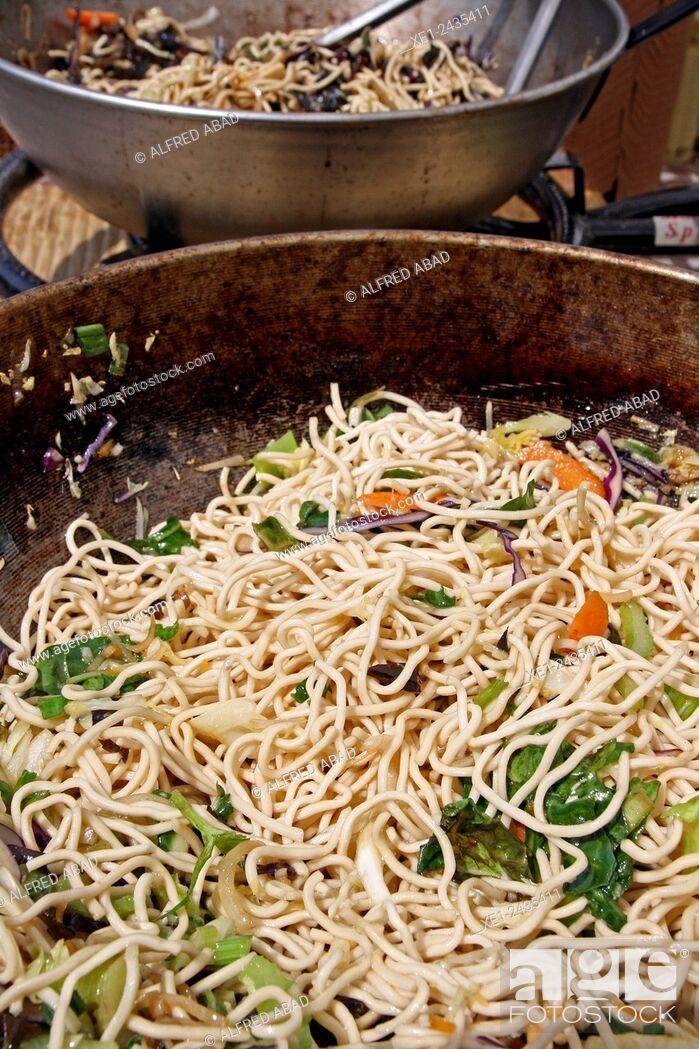 Stock Photo: Noodles.