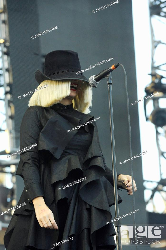 Singer / Songwriter Sia Furler performs a live concert at